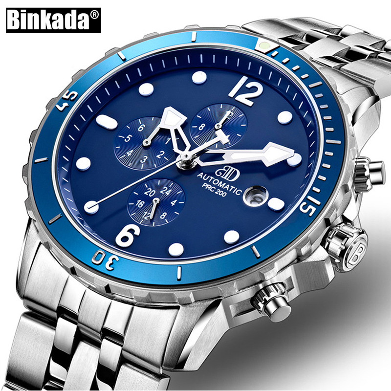 Watches Men Mechanical Watch Fashion BINKADA Casual Automatic Business Watches Reloj Hombre Sport Clock Relogio Masculino