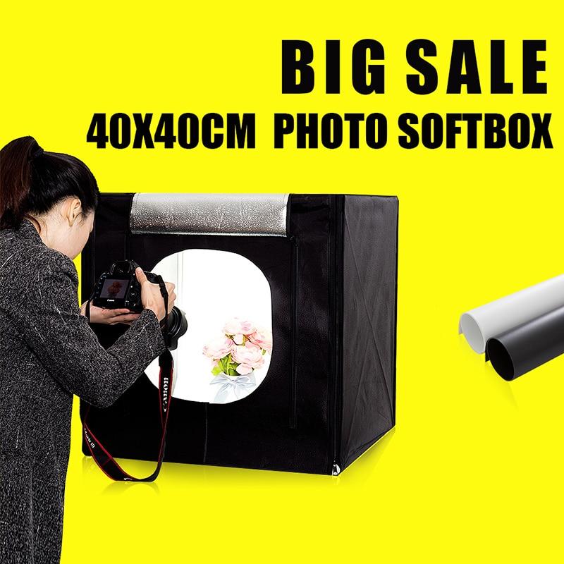 40X40X40CM Mini Photo Sudio Tabletop Shooting Soft Box Fotografia Photo Box Lightbox Studio Photography Accessories цена 2017