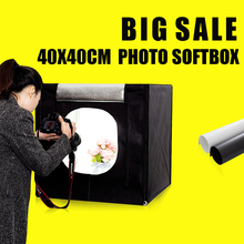 40X40X40CM Mini Photo Sudio Tabletop Shooting Soft Box Fotografia Photo Box Lightbox Studio Photography Accessories цены онлайн