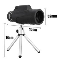 Best Deal Tripod 10x 52 Single Telescope Light Night Vision Outdoor Camping Adjustment And Anti Skid