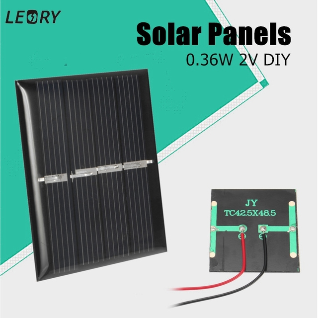 LEORY Vendita Calda 0.36 W 2 V Mini Policristallino Pannelli Solari FAI DA  TE Battery Charger