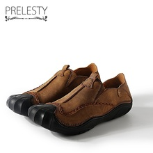 Prelesty Men Microfiber Leather Shoes Autumn Loafers Male Slip On Moccasins Mens Shoes Casual For Driving Zapato Masculino