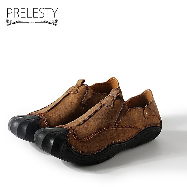 Prelesty Men Microfiber Leather Shoes Autumn Loafers Male Slip On Moccasins Mens  Shoes Casual For Driving