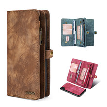 Megshi Leather Detachable Case For HUAWEI P20 lite Mate 20 2 In 1 Zipper Bag Credit Card Wallet