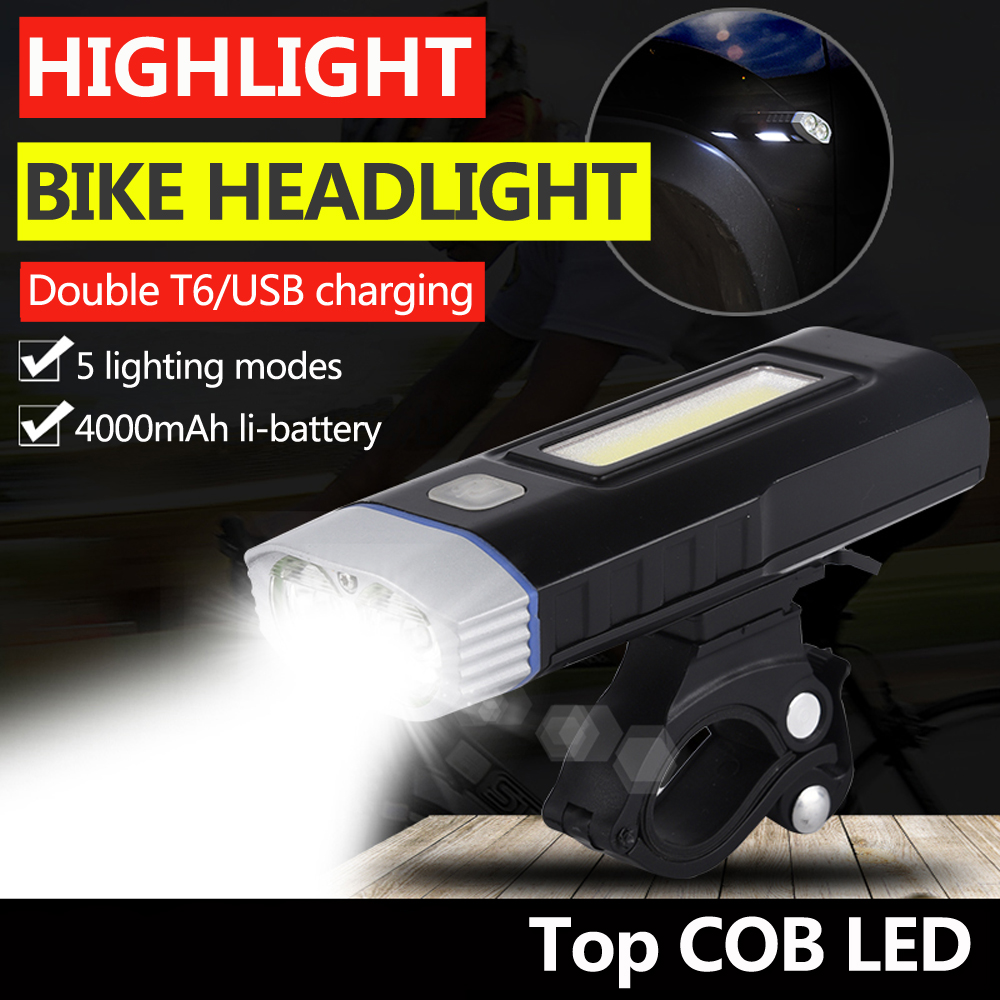 Front, Lamp, With, USB, MTB, Cycling