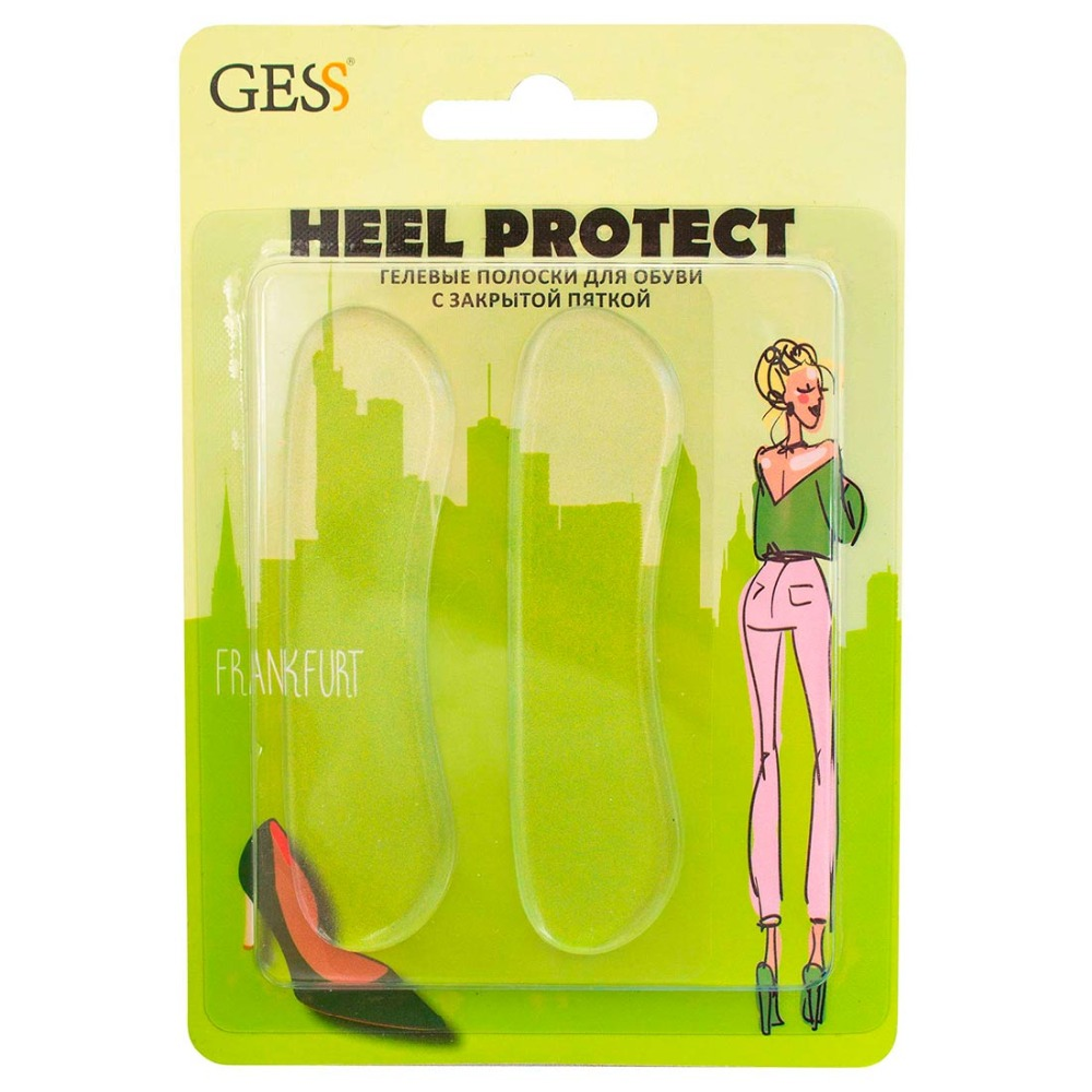 Heel Protect 1 pair Gel strips anti pressure shoe gel insoles Universal insole GESS orthopedic insoles correction hallux valgus silicone foot pad thumb toe separator shoe accessories ortopedik silicone heel pads