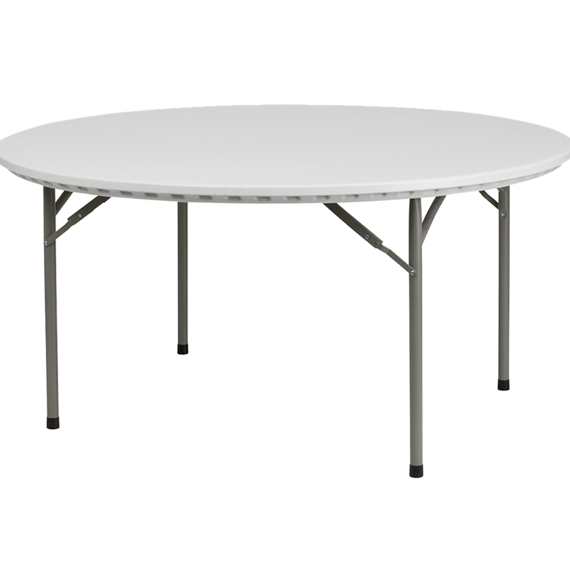 Offex 60'' Round Granite White Plastic Folding Table [OF-RB-60R-GG] 60r