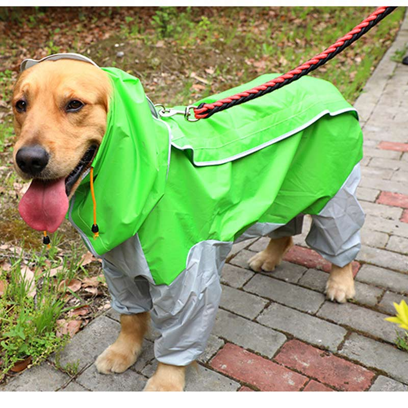 Rain Gear Hooded Camouflage Rain Coat For Dog Labrador Clothing Dogs Husky Clothes Golden Retriever Clothing For Dog Four Foot E