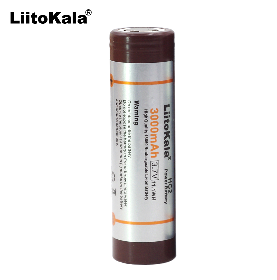 1PCS 2New Original  for LG HG2 18650 3000mAh battery 18650HG2 3.6V discharge 20A, dedicated electronic cigarette Power battery