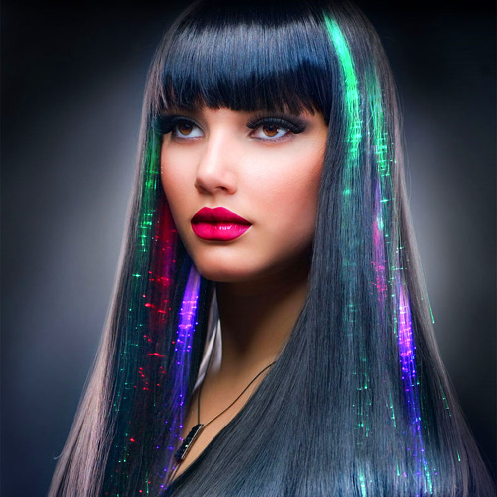 Dancing LED Hair Clip Blinking Hairgrip Colorful LED Ligth Hair Braid Glowing Flash Hair ...