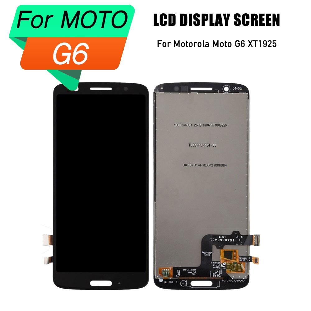 lcd touch screen for motorola moto G6 display digitizer frame assembly for Motorola Moto G6 lcd XT1925 screen