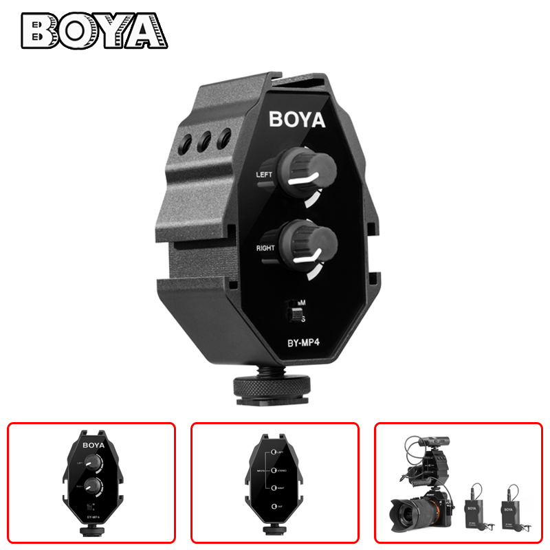 Cameras & Photo Smart Boya By-mp4 Audio Mixer Adapter 2-channel
