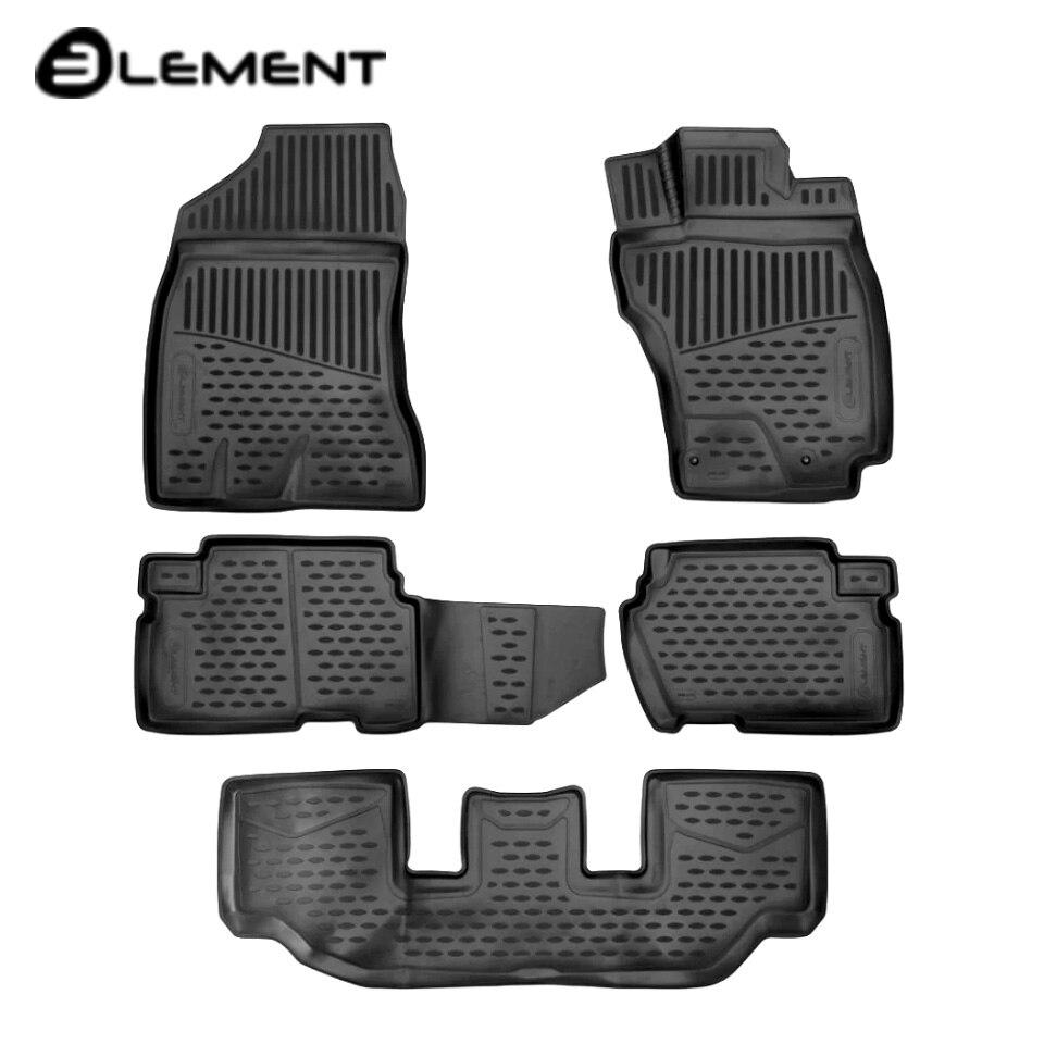 Para Toyota 25 4WD 2009-2018 3D alfombras de piso en Salón 5 unids/set elemento ELEMENT3D48142210