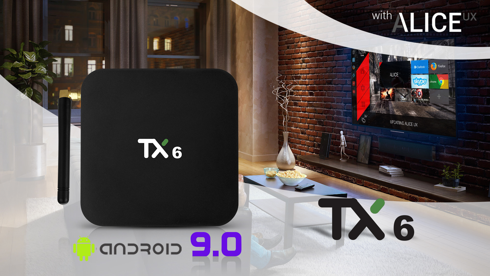 US $35 71 |Tanix TX6 Smart TV Box Android 9 0 4K 4GB/32GB BT Wifi Youtube  H 265 Set Top Box TX6 Media Player-in Set-top Boxes from Consumer
