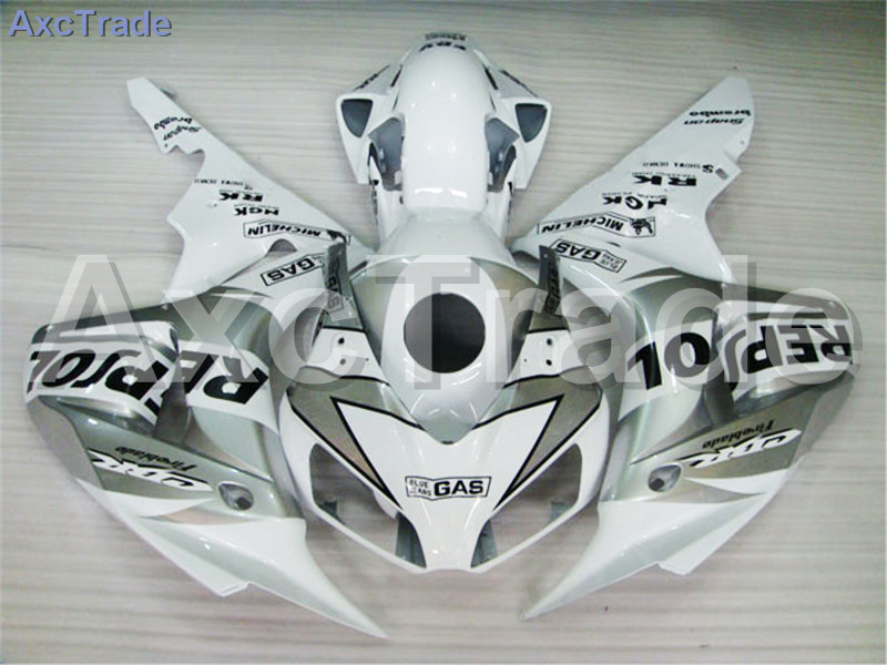 Motorcycle Fairings For Honda CBR1000RR CBR1000 CBR 1000 RR 2006 2007 06 07 ABS Plastic Injection Fairing Bodywork Kit White motorcycle fairings for honda cbr1000rr cbr1000 cbr 1000 rr 2006 2007 06 07 abs plastic injection fairing bodywork kit white
