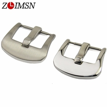 18mm 20mm 22mm 24mm Silver Solid Stainless Steel Watch Band Clasp Pin Buckles