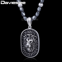 5mm X 68 4cm Iron Gallstone Link 316L Stainless Steel Lion Pendant Necklace Mens Boys Chain