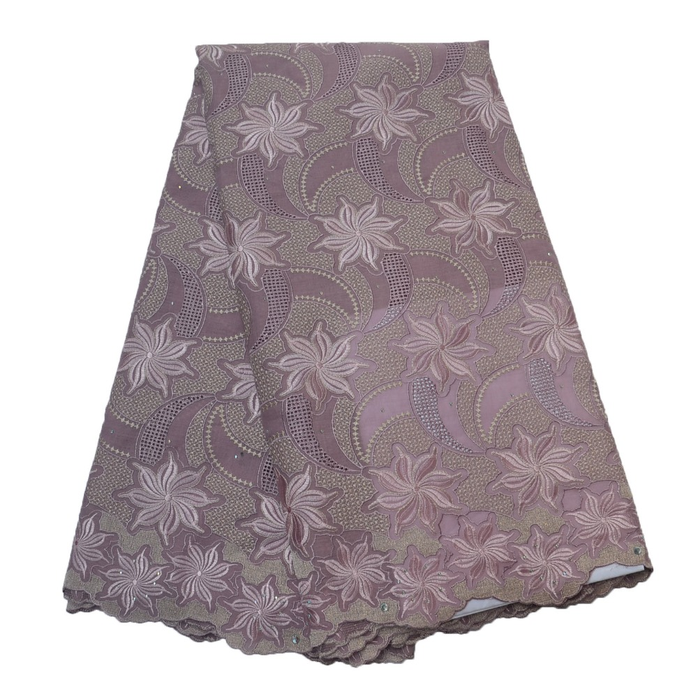 Lilac African Wedding Lace Fabric Nigeria Embroidery Swiss Lace Swiss Voile Lace In Switzerland High Quality 2018 L57 10