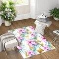 Еще розовый цветок зеленые листья золотой треугольник 3d печать Нескользящая микрофибра для гостиной декоративный современный моющийся ко...