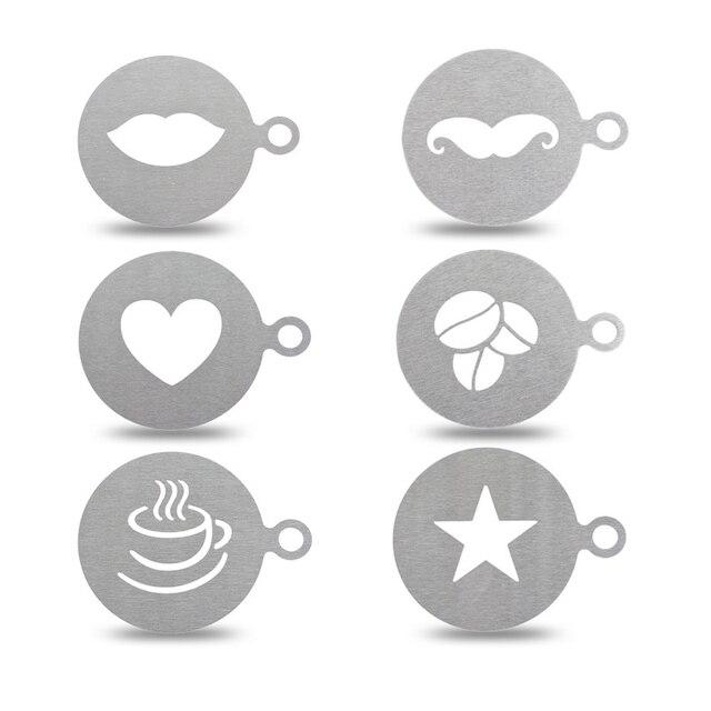 NEUE Edelstahl Kaffee Muster Vorlage Schablonen Strew Pad Duster ...