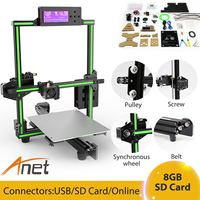 Anet E2 3D Printer Kit Big Printed Size DIY Delta LCD With PLA Filament With 8GB Sd Card EU/UK Plug