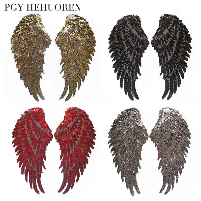 PGY 1pcs/Angel wings Sewing Patch T-Shirt  Adhesive  Applique Embroidery Patch DIY Clothing Accessory Backpack Patches