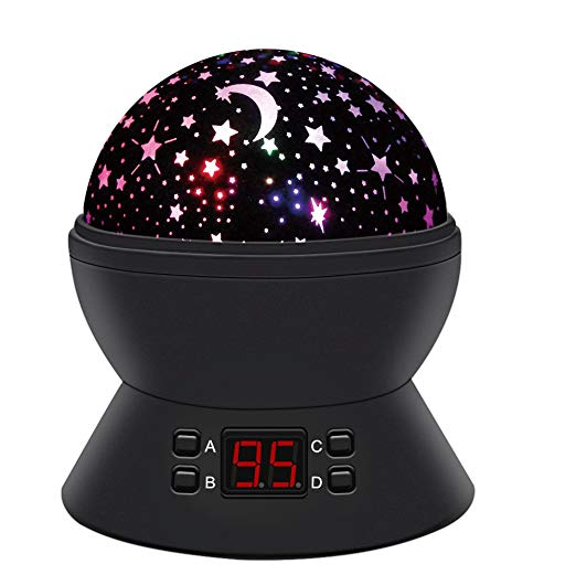 цена на Star Sky Night Lamp Baby Lights 360 Degree Romantic Room Rotating Cosmos Star Projector With LED Timer Auto-Shut Off USB Cable