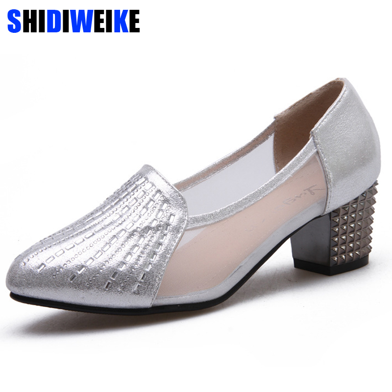 2019 spring Summer sexy fashion women med heels shoes woman slip on Round Toe pumps shoes Ladies gold silver bling Shoes n0282019 spring Summer sexy fashion women med heels shoes woman slip on Round Toe pumps shoes Ladies gold silver bling Shoes n028