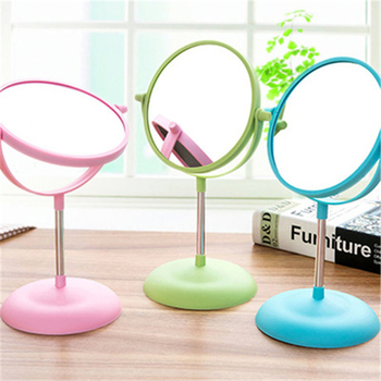 1090 European double double big table circular rotating make-up mirror fashionable Princess Dress mirror image