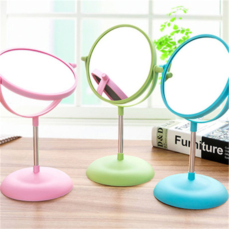 1090 European Double Double Big Table Circular Rotating Make-up Mirror Fashionable Princess Dress Mirror