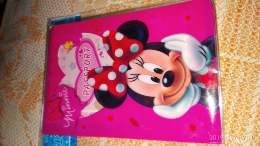 "Wholesale Fashion Mickey and Minnie Passport Holder PU Leather Passport Cover Passport Package Travel Card Holder Bag 5.5*3.78"" photo review"