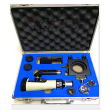 FGHGF Portable Metallurgical Microscope 100X-400X Handheld BJ-XA Magnetic Base Material Analysis LED