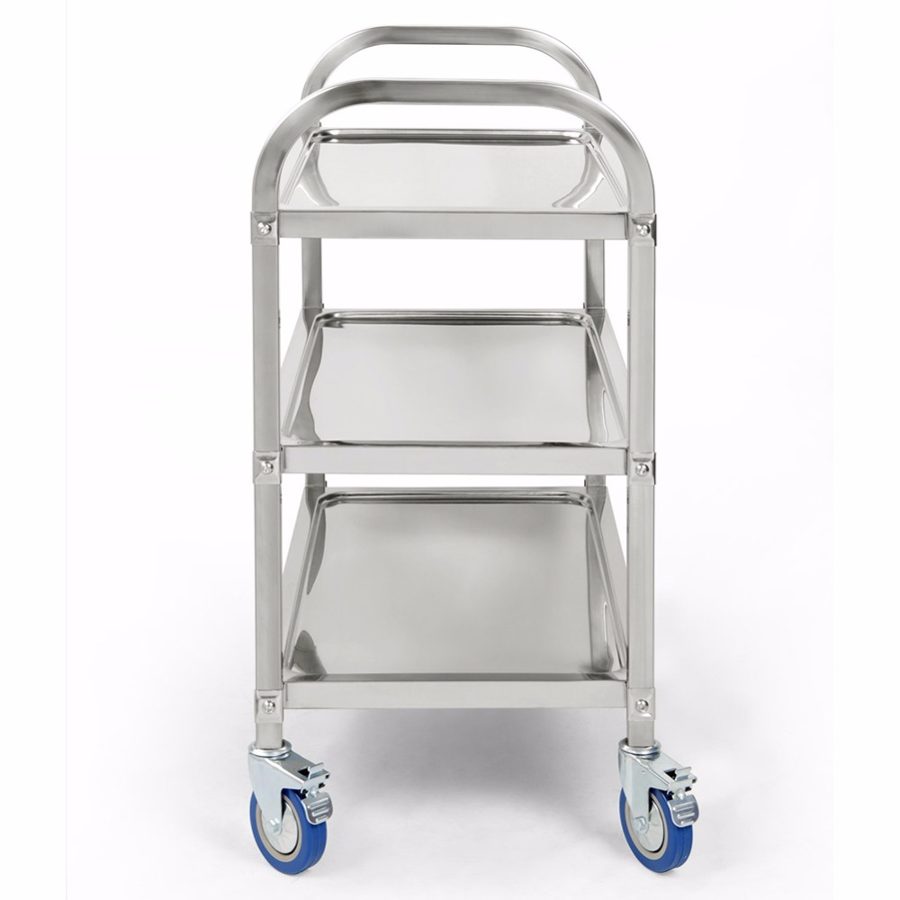 3 Tier carrito cocina Hotel Restaurant kitchen Trolley Clearing Trolley Large 90cmx50cm Stainless Steel Catering kitchen cart Karachi