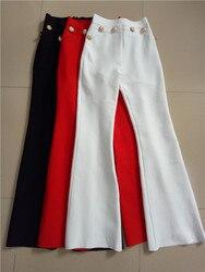 Di alta Qualità Piatto Pulsante Oro Pieno Chiarore della Fasciatura Delle Donne Pantaloni