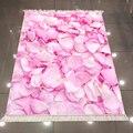 Sonst Rosa Weiß Rosen Blätter Blumen Floral 3d Muster Mikrofaser Druck Anti Slip Zurück Waschbar Dekorative Kelim Bereich Teppich Teppich-in Lumpen aus Heim und Garten bei