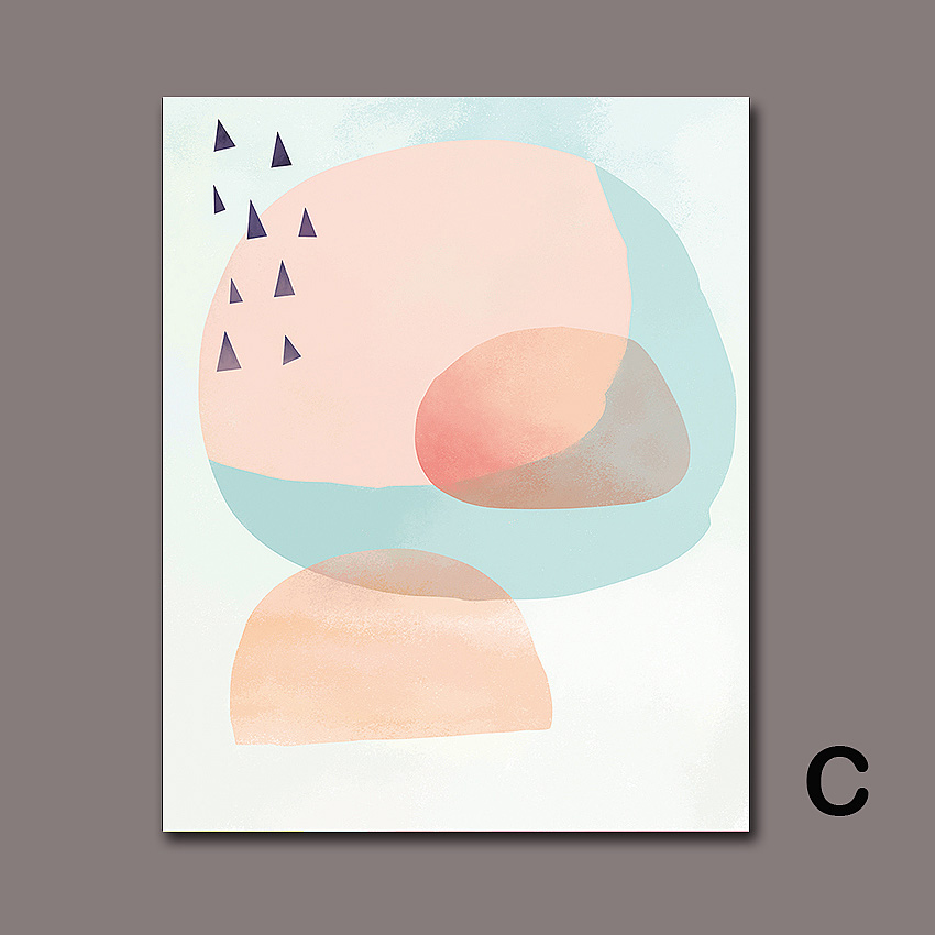 SD LINLEEHON Modern Abstract Nordic Canvas Colourful Painting Home Wall Decor Minimalist Poster Art Print Living Room Unframed in Painting Calligraphy from Home Garden