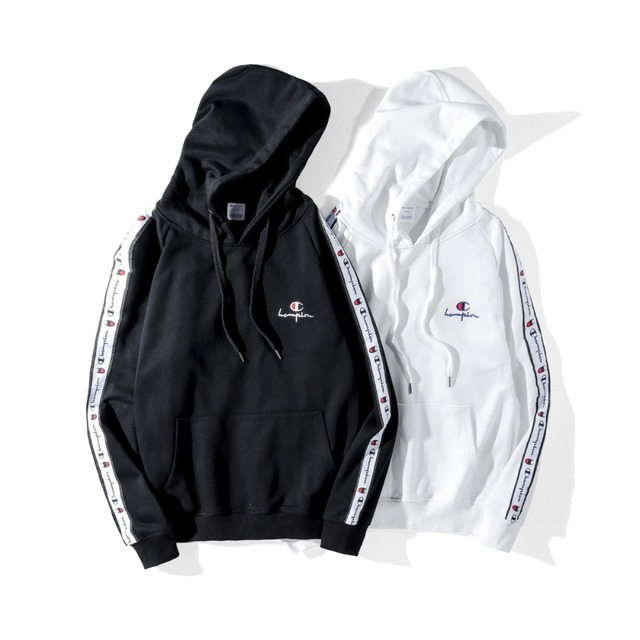 d2ca2ccb Champion hoodie street style black and white couples wholesale champion  brand