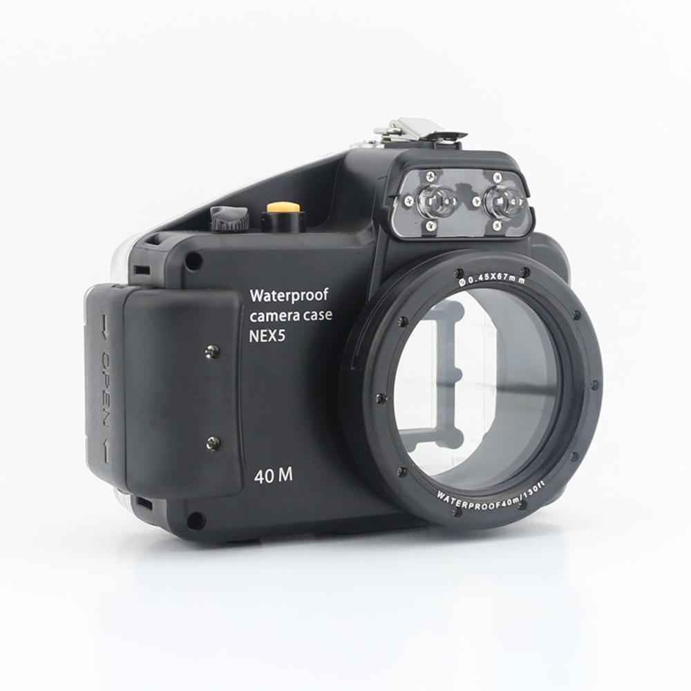 Meikon 40m/130ft Diving Camera Waterproof Housing Bag Case for Sony Nex 5 Nex5 Camera 16mm Lens
