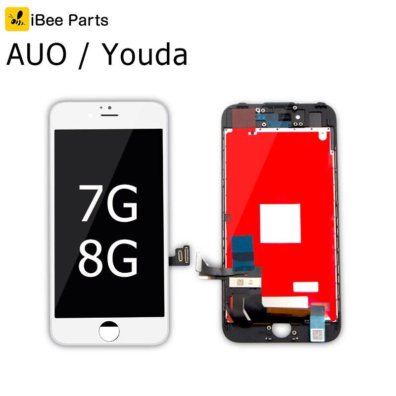 IBee Teile 10 PCS Neue Generation AUO Youda für iPhone 7 8G LCD display 4,7 zoll bildschirm Ersatz Objektiv pantalla