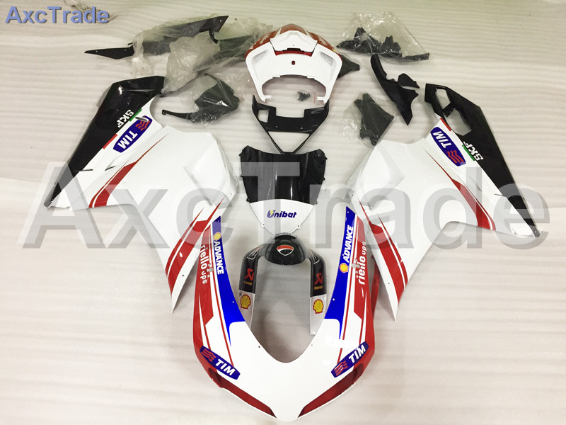Motorcycle Fairings Kits For Ducati 848 1098 1198 07 - 12 2007 - 2012 ABS Injection Fairing Kit Bodywork Kit White Red A491 hot sales replacement abs fairings for ducati 1098 848 1198 xerox 2007 2008 2009 2010 2011 abs fairing kits injection molding