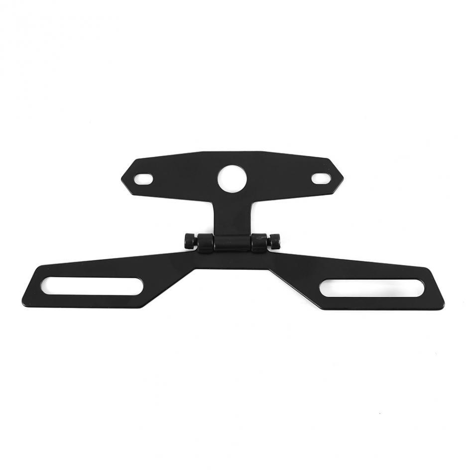 Adjustable Folding Motorcycle License Plate Holder Support Tail Light Holder Rear Bracket Mount Holder New