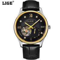 Casual Hollow Skeleton Men Automatic Watches Luxury Business Mechanical Watches Classic Steel Strap Relojes Hombre
