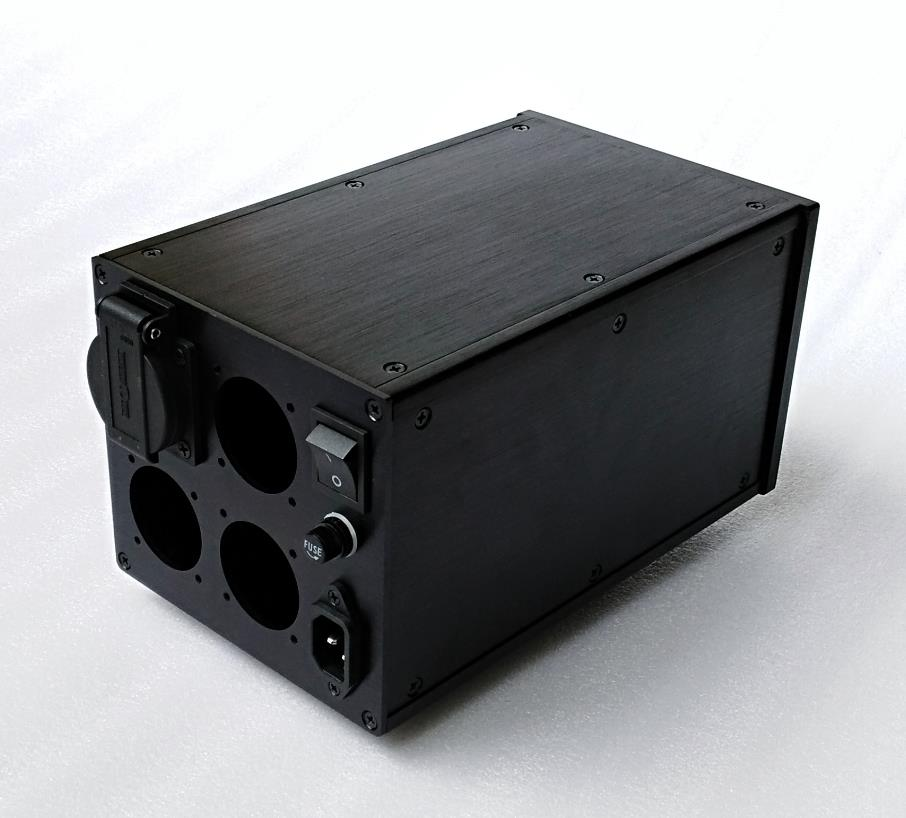 BZ1614 Multi-purpose All-aluminum European Standard Power Supply Chassis Isolation Transformer Housing EU Socket Case