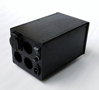 BZ1614 Multi-purpose All-aluminum European Standard Power Supply Chassis Isolation Transformer Housing EU Socket Case
