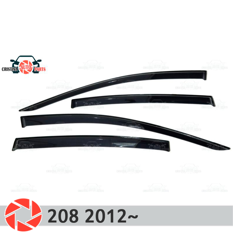 Window deflector for Peugeot 208 2012~ rain deflector dirt protection car styling decoration accessories molding цена 2017