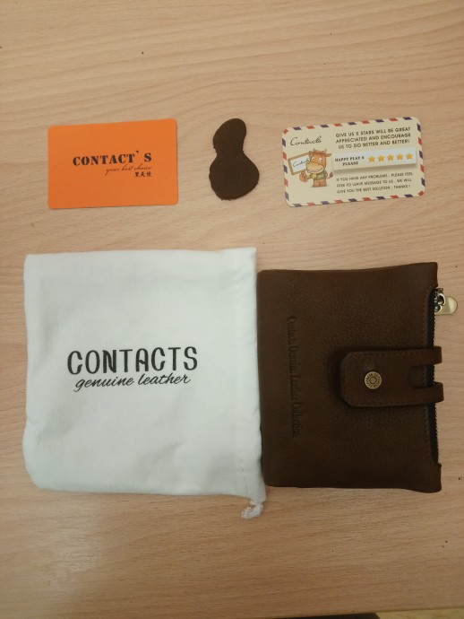 Contact's Fashion Short Women Wallet Female Genuine Leather Womens Wallets Zipper Design With Coin Purse Pockets Mini Walet 2018 photo review
