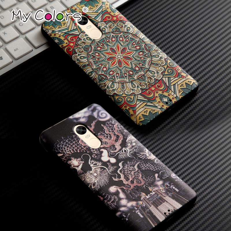My Color 3D Stereo relief 5 5 coque Redmi note 4x font b Case b font