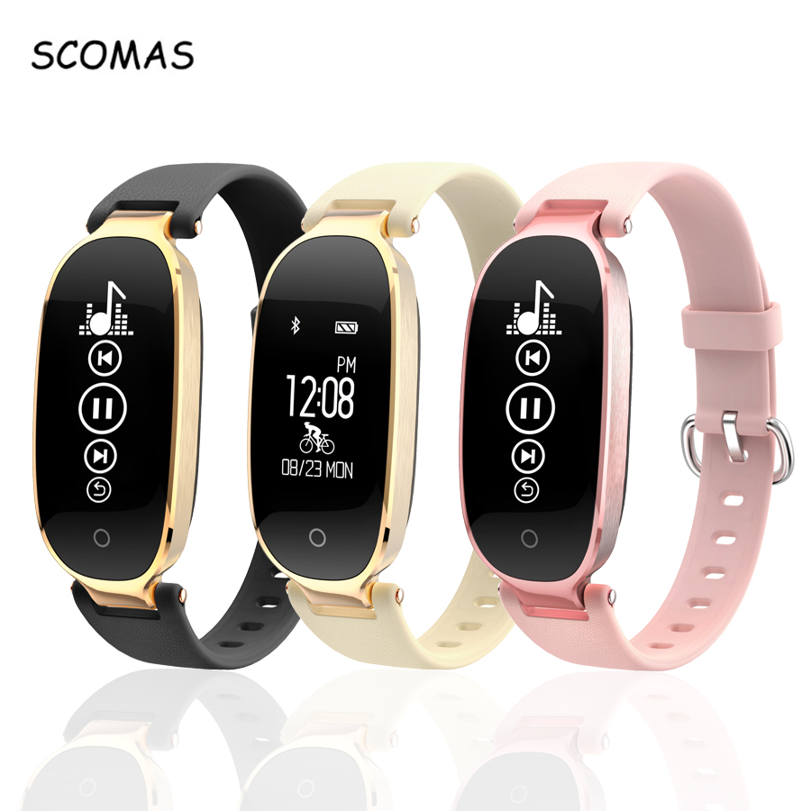 SCOMAS S3 Relógio Inteligente Para Android IOS Telefone Monitor de Freqüência Cardíaca de Fitness Rastreador Smartwatch Bluetooth 4.0 Mulheres Relogio