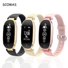SCOMAS S3 Thông Minh Cho Android IOS Điện Thoại Đo Nhịp Tim Theo Dõi Sức Khỏe Bluetooth 4.0 Phụ Nữ Đồng Hồ Thông Minh Smartwatch Đồng Hồ Relogio
