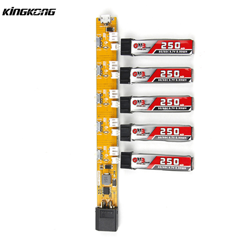 Original Kingkong Tiny6 Tiny 7 1S USB Battery Charger 2-6S Lipo Battery Powered For RC Multicopter Spare Part 1s 2s 3s 4s 5s 6s 7s 8s lipo battery balance connector for rc model battery esc